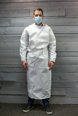 NHS Isolation Gown, Hospital, Dentist, Medical Gown UK Made, Top Quality Durable • 2.99£