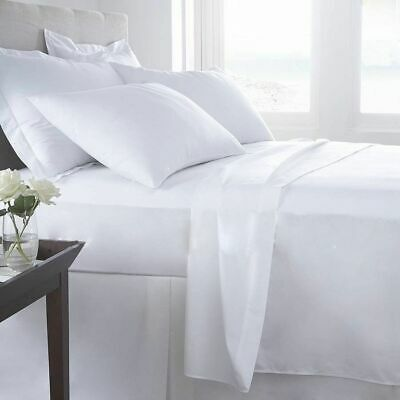 White Solid & UK Sizes 1000 Thread Count Select Bedding Items Egyptian Cotton • 41.99£