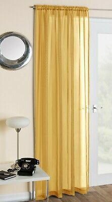 £5.99 • Buy Crystal Plain Polyester Voile Net Curtain Panel Slot Top, 12 Cols & 4 Sizes