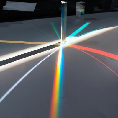 $18.24 • Buy Optical Glass Right Angle Reflecting Triangular Prism Light Spectrum Rainbow Kit