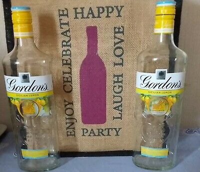 Gordon's Sicilian Lemon Gin Bottle - Empty X 2 • 1£