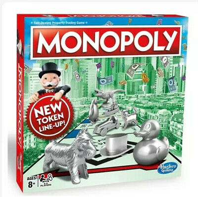 Monopoly Classic Board Game From Hasbro Gaming -new Sealed Christmas Gift • 35£