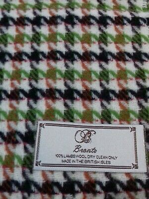 £6.99 • Buy Bronte 100% Lambswool Scarf Houndstooth Pattern 10 X64  Approx New