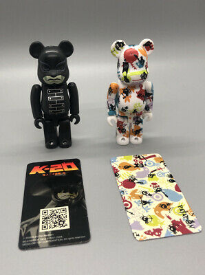 $59.99 • Buy 2 Pcs Set Medicom 100% Bearbrick Pattern Patapon+ Horror K-20 Series 17 USSeller