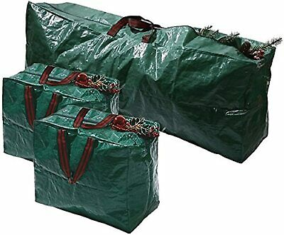 3 X Large Christmas Storage Zip Bags Tree, Decorations, Lights With Handles Xmas • 9.99£