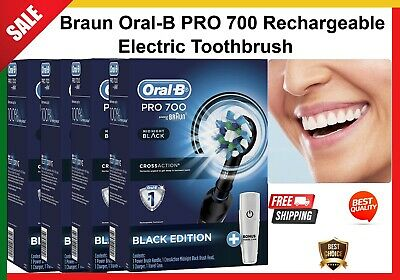 AU58.99 • Buy Braun Oral-b Pro 700 Rechargeable Electric Toothbrush 1 Travel Case And 1 Head