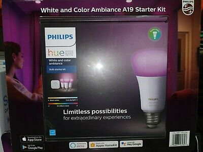AU215.31 • Buy Philips Hue Ambiance A19 Starter Kit - White And Color
