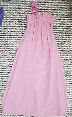 ALEXIA Ball Gown Maxi Dress Size 8 Pink One Shoulder Lined Sleeveless Prom Party • 9.99£