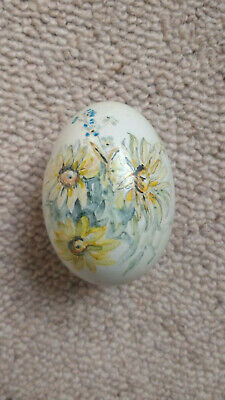 £17.99 • Buy Hand-painted Blown Egg. Flowers. Brian J. Prout. Vintage. Floral. Easter. RCP.