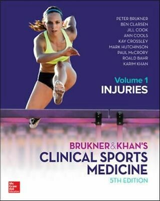 BRUKNER And KHANS CLINICAL SPORTS MEDICINE INJURIES  VOL 1 NEW Brukner Peter • 143.98£