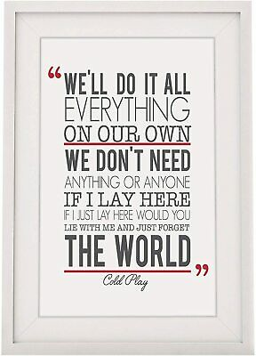 Snow Patrol 'If I Lay Here Song Lyrics Design 2 Framed Print With Mount 12 X 10  • 6.99£