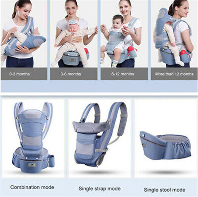 0-48M Ergonomic Baby Carrier Infant-Baby Hipseat Carrier Front Facing Kangaroo • 29.96£
