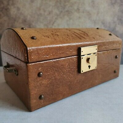 Vintage Treasure Chest Trunk Jewellery Box, Made In England  • 14.90£