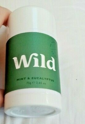Wild - Mint & Eucalyptus Deodorant Roll On Stick - 75g - New • 8.95£