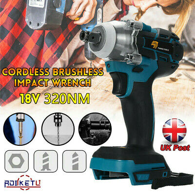18V Cordless Brushless Impact Wrench 1/2  1/4  Driver Replace For MAKITA DTW285Z • 24.99£