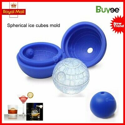 Silicone Wars Death Star Round Ball Ice Cube Mould Tray Desert Sphere Mold • 5.98£
