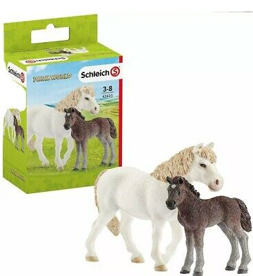 Schleich Dartmoor Pony Mare & Foal - Farm World/horses Figures & Models ,NEW Box • 8.99£