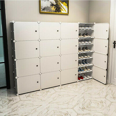 AU89.99 • Buy White Cube DIY Shoe Cabinet Rack Storage Portable Stackable Organiser Stand