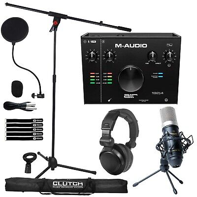 $221.70 • Buy M-Audio AIR 192 4 Studio Interface Complete Vocal Recording Pack W Stand & Mic