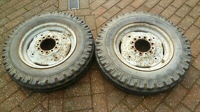 Massey Ferguson 35 Tractor Front Wheels Original With Tyres Collection Only • 110£