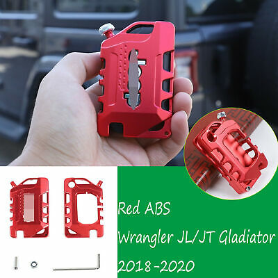 AU26.75 • Buy Alloy Key Case Cover Shell Protector Accessories For Jeep Wrangler JL JT 2018+