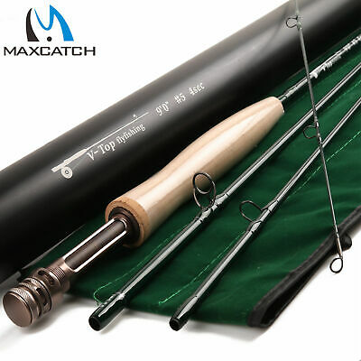 $ CDN144.34 • Buy Maxcatch Top Fly Rod 5/6/8WT 9FT Best Graphite IM12 Fast Action Fishing Rod