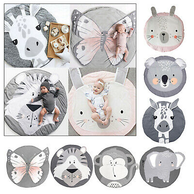 £19.79 • Buy Animals Baby Rug For Nursery Baby Round Rug Educational Warm Soft Activity Mat