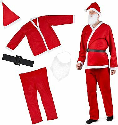 £12.99 • Buy Santa Claus Costume Father Christmas Mens Fancy Dress Party Outfit Xmas Outfit
