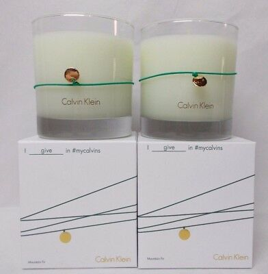 £17.71 • Buy Candle Calvin Klein Mountain Fir Scented 7.5 Oz Lot Of 2 Candles