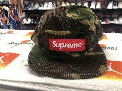 $ CDN107.35 • Buy Supreme Authentic Camp 5 Panel Corduroy Authentic Hat Rare Vtg Vintage