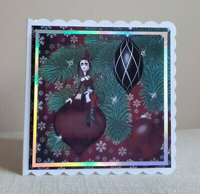 Personalised Spooky Gothic Christmas Card. Bongonlina Baubles • 3.75£
