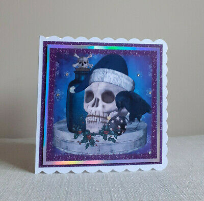 Personalised Spooky Gothic Christmas Card. Christmas Decor • 3.75£