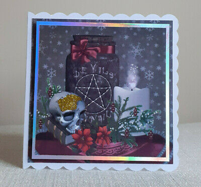 Personalised Spooky Gothic Christmas Card. Christmas Decor 2 • 3.75£