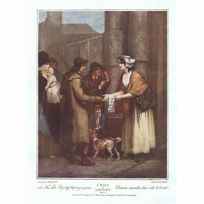 £7.95 • Buy CRIES OF LONDON New Love Song Ha'penny A Piece - Vintage Lithograph Print 1926