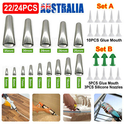 AU14.71 • Buy 22/24PCS Silicone Caulking Finisher Tool  Scraper Set Nozzles Spatulas Filler AU