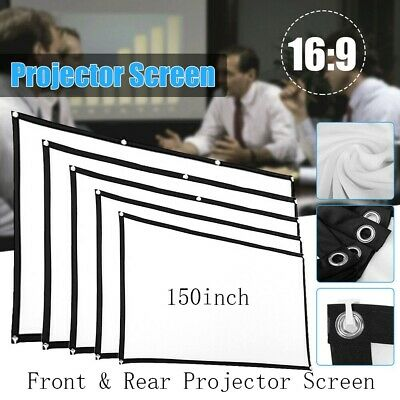 AU39.94 • Buy 150'' Front&Rear Projector Screen 16:9 Home Cinema Theater Outdoor 3D Projection
