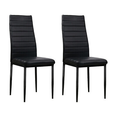 AU149.86 • Buy Artiss Set Of 4 Dining Chairs PVC Leather - Black