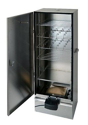 XL Electric Food Smoker Cabinet 1,1m  Embossed Stainless Steel By Outdoorcook UK • 269£