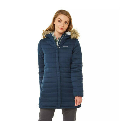 Craghoppers Womens Beaufort Water Resistant Insulated  Jacket Navy RRP £150 • 49.99£