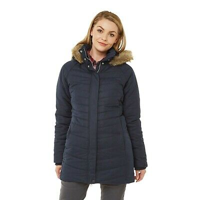Craghoppers Womens Liesel Insulated Hooded Jacket Navy RRP £150 • 49.99£