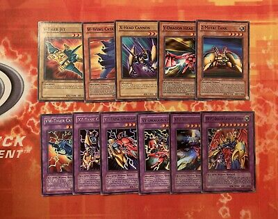 Yu- Gi-Oh COMPLETE VWXYZ Dragon Cannon 11 Card Set ALL Fusions + Materials LP • 29.99£
