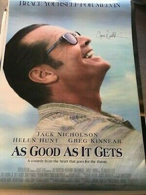 £1445.71 • Buy Jack Nicholson Signed As Good As It Gets Movie Poster Autographed BAS W/Proof
