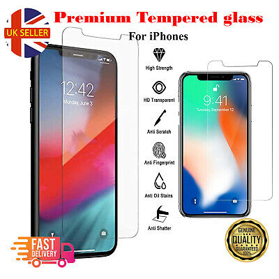 £1.99 • Buy Tempered Glass Screen Protector For IPhone 12,11 Pro Max Mini IPhone XR X XS MAX