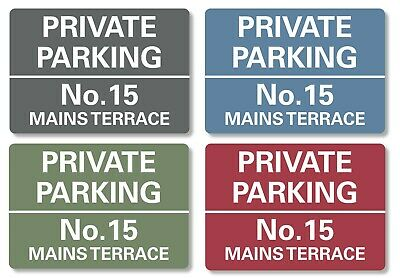 Private Parking Sign Personalised No Parking Keep Clear Metal Sign Waterproof  • 6.99£