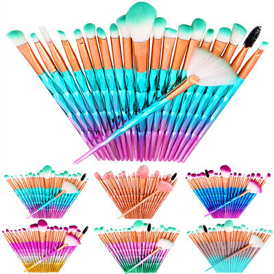 AU19.66 • Buy 20 Pcs/Set Make Up Brushes Unicorn Themed Blusher Face Powder Eyeshadow Brush