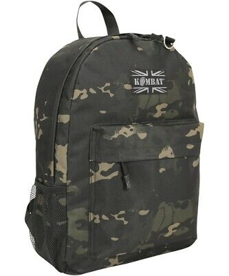 £14.90 • Buy Army Rucksack Military Combat Daysack Multi Camo Backpack Molle Small Bag Black