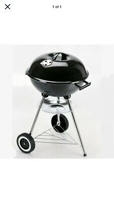 LANDMANN GRILL CHEF KETTLE BBQ BLACK SUMMER OUTDOORS COOKING 43 Cm New Free Post • 49.99£