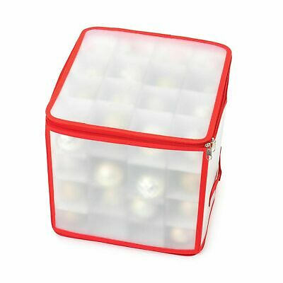 64 Bauble Storage Box Christmas Tree Decoration Organiser Strong Made 3mm Card • 8.99£