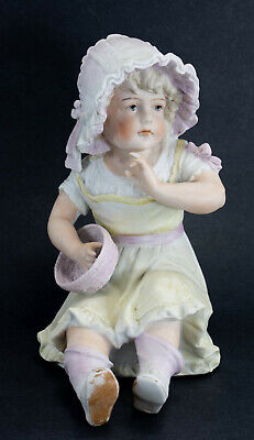 $ CDN125 • Buy Antique Carl Schneider Bisque Porcelain Piano Baby Girl Doll 1880's Germany