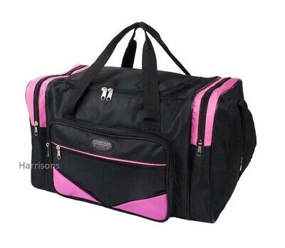 Ladies Girls Leisure Duffle Bag Sports Gym Travel Holdall Overnight Weekender • 10.95£